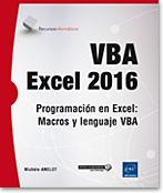 VBA Excel 2016, microsoft, libro VBA, objeto, lenguaje objeto, programación, macro, macros, macro-comando, Visual Basic, VB, Office 2016